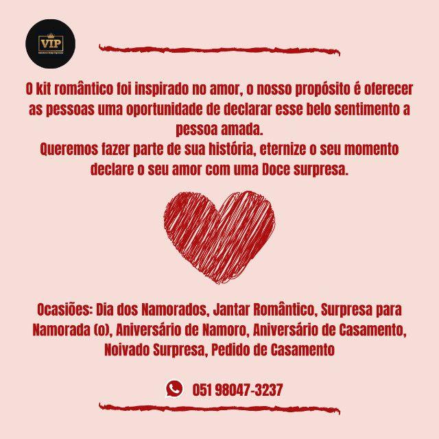 Kit romântico/Dia dos namorados/surpresa/jantar romântico - Foto 2