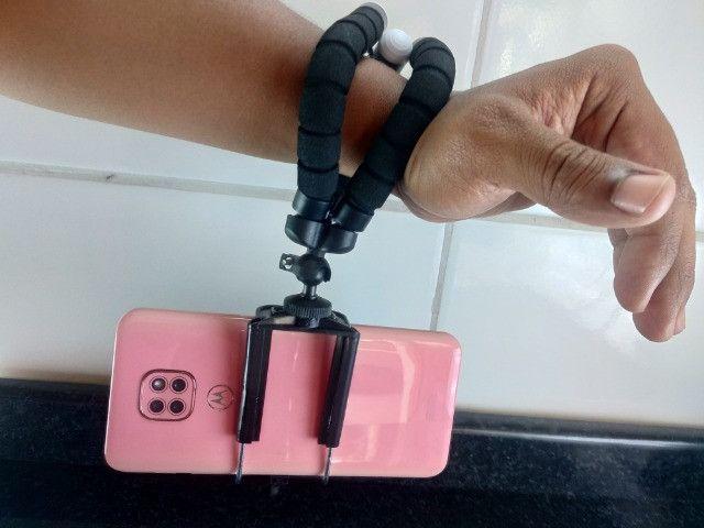 Mini tripé Barato Para Celular e Câmera - Foto 2