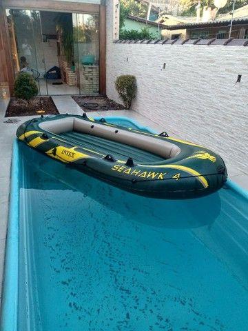 Bote inflável Intex SEAHAWK 4 pessoas. - Foto 4