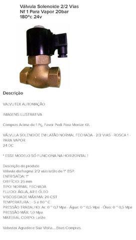Válvula solenoide 2/2 vias NF 1 para vapor 20 bar 180ºc 24v