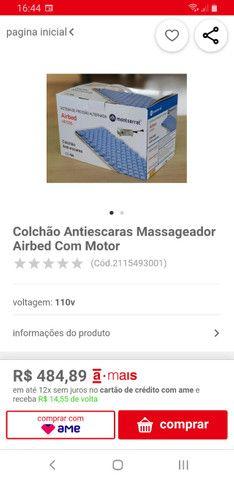 Colchão Antiescaras Massageador Airbed Com Motor - Foto 4
