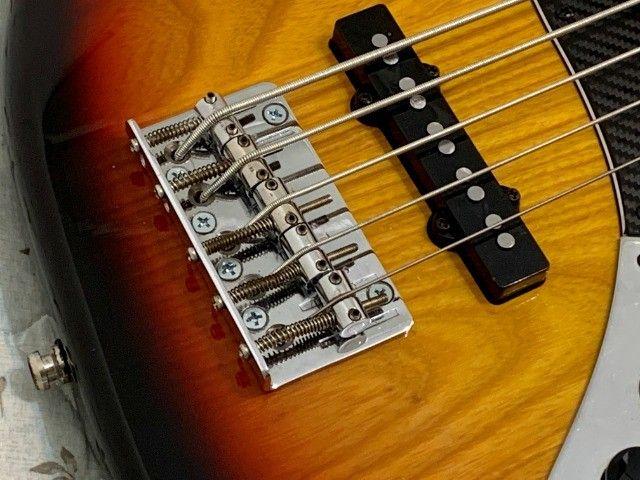 Baixo TJB5 jazz bass Tagima especial com Thru-body. Excelente contrabaixo com garantia. - Foto 5