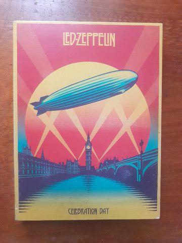 Led Zeppelin Celebration Day Box com 2 Cds e 1 Dvd + Encarte