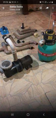 Venda de motor de piscina com bomba de água e  acessórios para estalacao