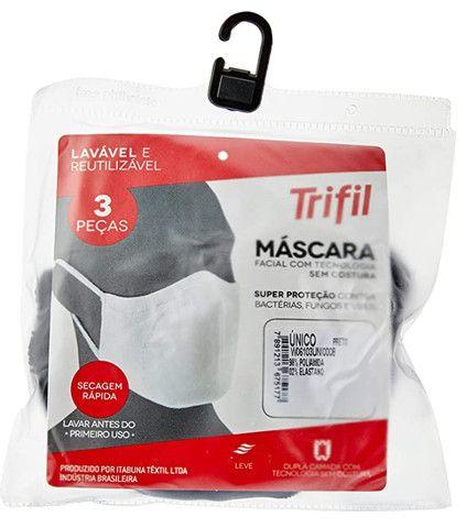Kit com 3 Máscaras Microfibra - Foto 4