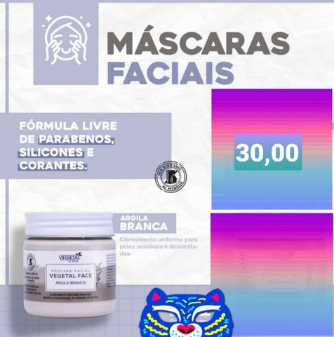 Máscara facial vegetal do Brasil  - Foto 2
