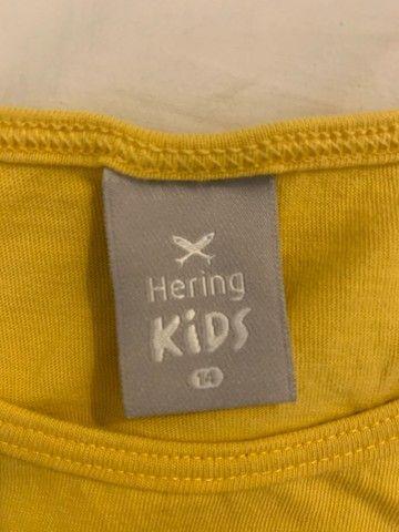 camiseta infantil hering - tamanho 14 - Foto 2