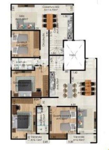 Apartamento à venda com 3 dormitórios em Santa maria, Juiz de fora cod:17650 - Foto 4