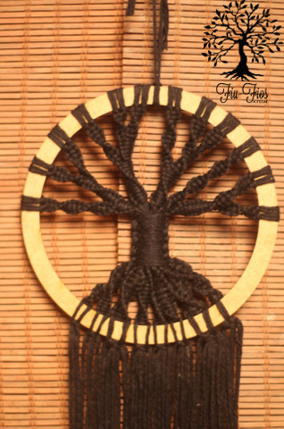 Filtro dos Sonhos em Macramê Árvore da Vida - Foto 2