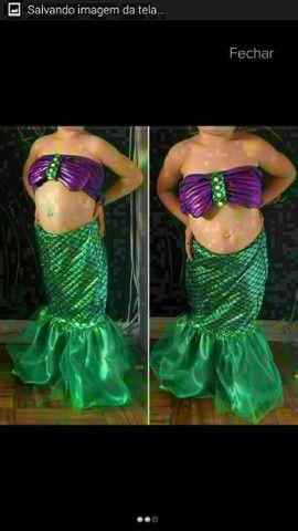 Vestido fantasia infantil Ariel entrega gratuita em toda baixada