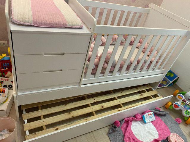 Berço multifuncional com cama auxiliar  - Foto 3