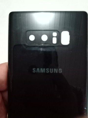 Tampa Traseira Samsung Note 8 junto com a tampa da câmera