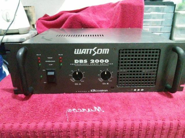 Amplificador WATTSOM DBS 2000 NOVÍSSIMO
