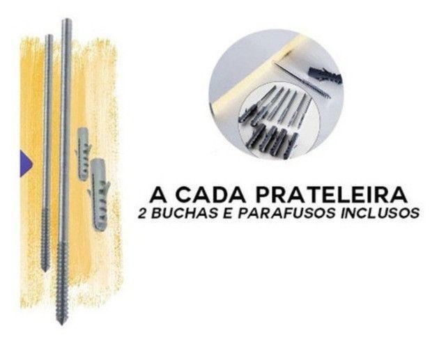 Kit de 4 prateleiras 60x15 Multiuso - Foto 5
