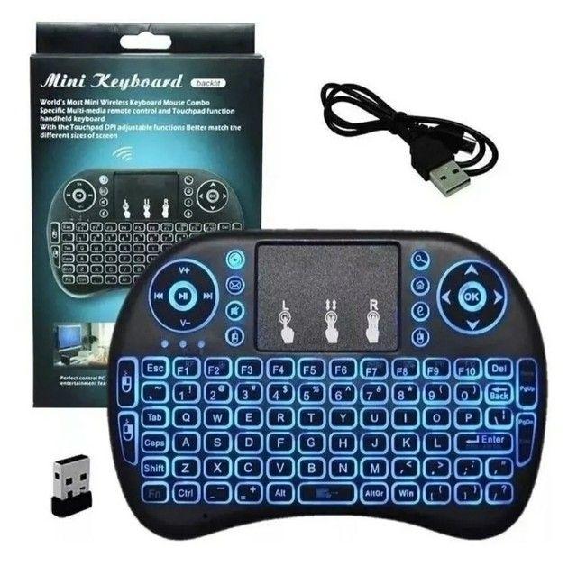 Mini controle s/fio touch led PC /note / gamer/tvbox/tvsmart