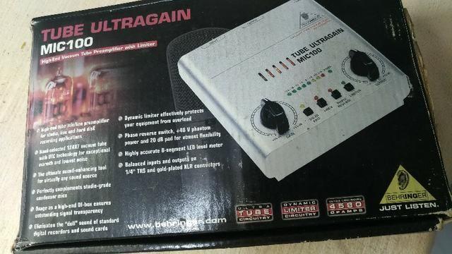 Mic100-Tube Ultragain Behringer - Ótimo Preço 200,00