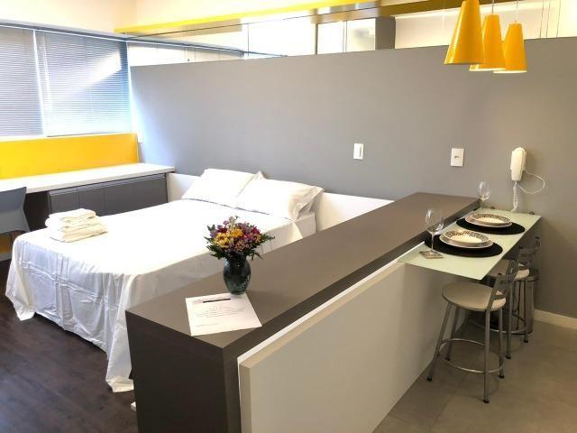 Studio Mobiliado c/ vaga de garagem no Ed Neo Superquadra - Foto 4