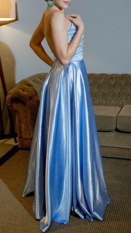 Vestido de Festa Azul - Foto 4