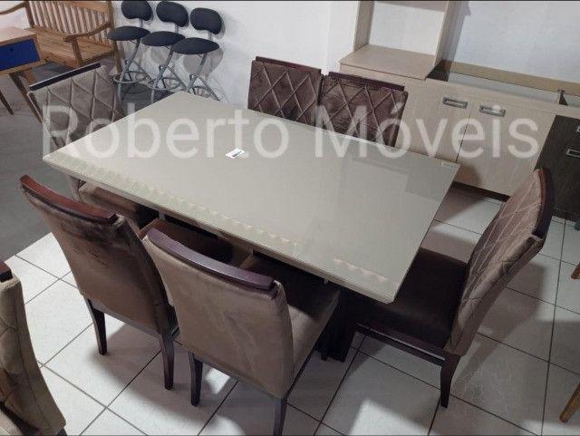 Promoção Mesa de Vidro Com 6 Cadeiras Nova !! - Foto 3