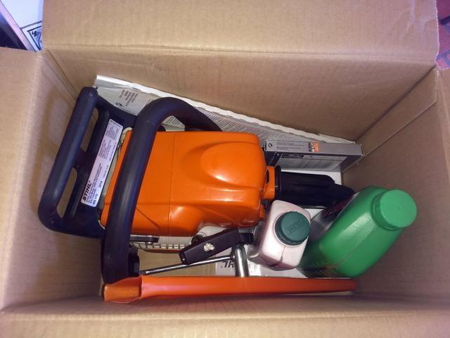 Moto serra a gasolina na caixa - Foto 6