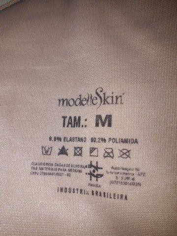 02 Cintas Modeladoras - Compressão Macaquinho Feminina Modelle Skin - Foto 4