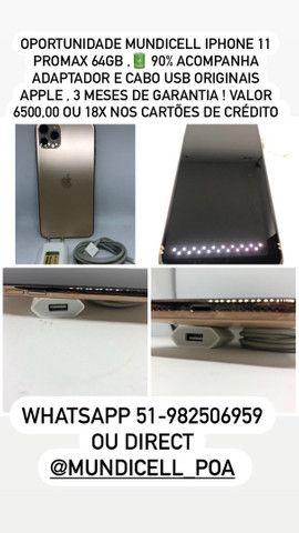 MUNDICELL SEMINOVO IPHONE 11 PROMAX 64GB ANATEL DESBLOQUEADO GARANTIA