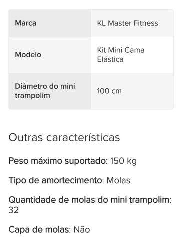 Mini Cama Elástica capacidade 150kgs - Foto 2
