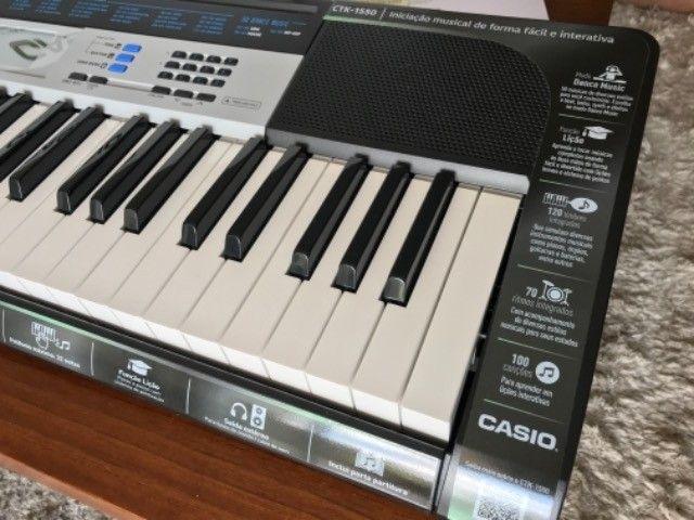 Teclado Casio CTK-1550 Impecável - Foto 2