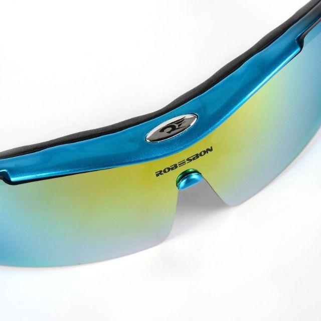 Kit Óculos 5 Lentes Polarizado para Ciclismo Bike MTB Speed Pedal Pescaria Futevôlei - Foto 5