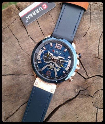Relógio Masculino Curren Pulseira de Couro - Foto 4