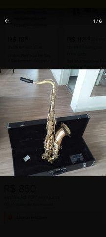 Case Estojo de luxo madeira sax tenor - Foto 2