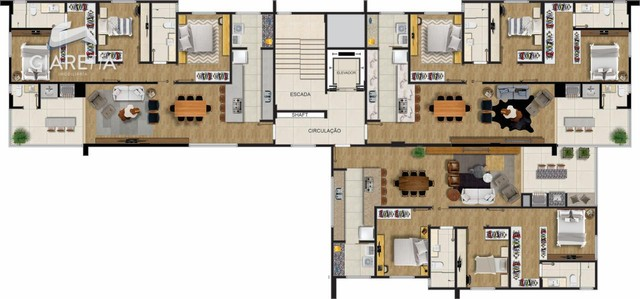 Apartamento com 3 dormitórios à venda, JARDIM LA SALLE, TOLEDO - PR - Foto 14