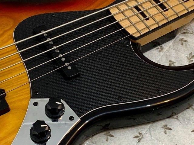 Baixo TJB5 jazz bass Tagima especial com Thru-body. Excelente contrabaixo com garantia. - Foto 3