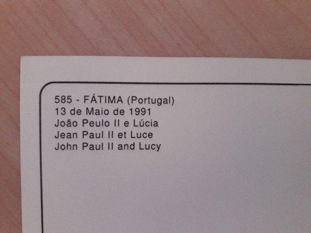 Cartão Postal do encontro do Papa João com Lúcia Jacinto - Fátima Portugal - Foto 3