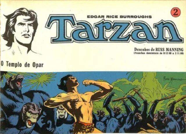 Tarzan-kit Pranchas Dominicais Russ Manning-Ebal 1976 - Foto 2