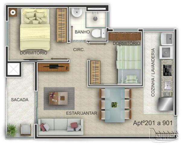 Apartamento à venda com 2 dormitórios em Ideal, Novo hamburgo cod:15322 - Foto 4