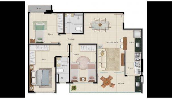 2 e 3 QUARTOS - ALTO PADRÃO - Apartamento em Lançamentos no bairro Praia da Cost... - Foto 3