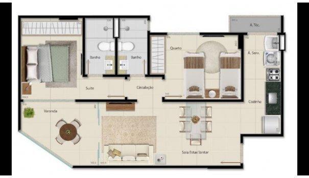 2 e 3 QUARTOS - ALTO PADRÃO - Apartamento em Lançamentos no bairro Praia da Cost... - Foto 5