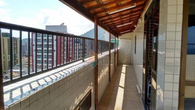 Cobertura com 3 dormitórios para alugar, 256 m² por r$ 5.000/mês - canto do forte - praia  - Foto 8