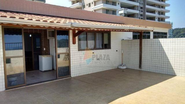 Cobertura com 3 dormitórios para alugar, 256 m² por r$ 5.000/mês - canto do forte - praia  - Foto 9