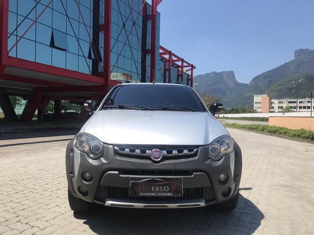 Fiat Strada Adventure cd 3 portas automática 1.8 flex com GNV completa - Foto 3