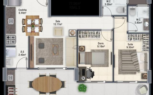 Lançamento Apartamento na Guilhermina em Praia Grande - Foto 17