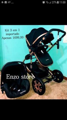 0f2658991d Carrinho de bebê stroller importado berço Moisés passeio + bebê conforto