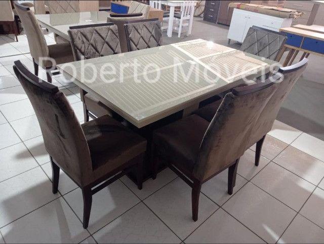 Promoção Mesa de Vidro Com 6 Cadeiras Nova !! - Foto 2