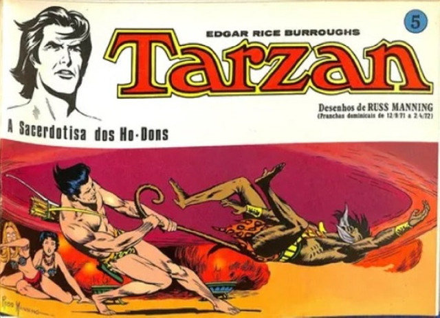 Tarzan-kit Pranchas Dominicais Russ Manning-Ebal 1976 - Foto 5