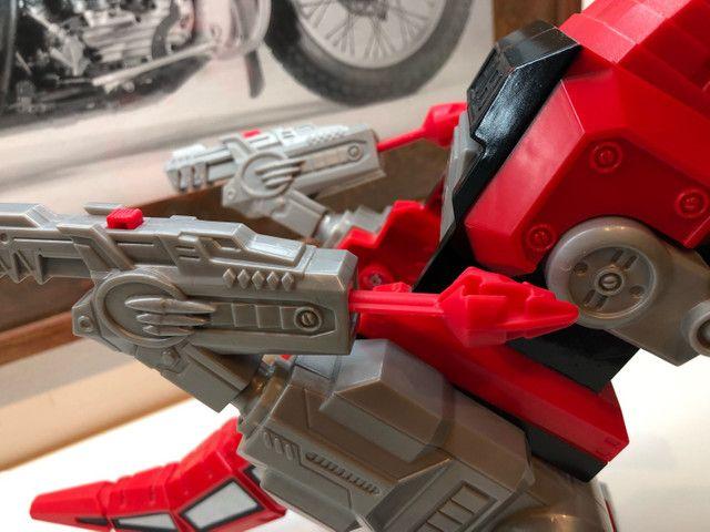 Imaginext  Vermelho Zord T Rex Cjp64 para boneco power ranger batalha  - Foto 3