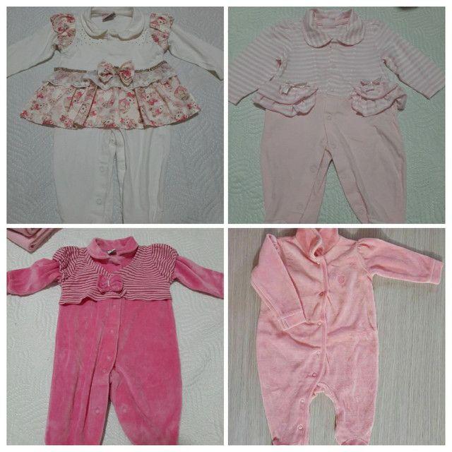 Vendo Combo de Roupinhas de bebê Menina (Semi Novas) - Foto 5
