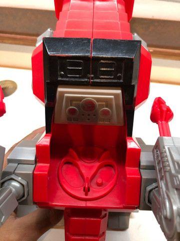 Imaginext  Vermelho Zord T Rex Cjp64 para boneco power ranger batalha  - Foto 4