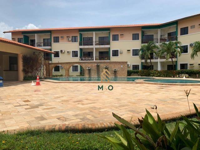 Apartamento com 1 dormitório para alugar, 52 m² por R$ 1.300/mês - Porto das Dunas - Aquir