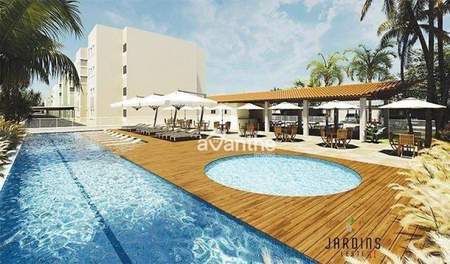 Apartamento com 3 dormitórios à venda, 59 m² por R$ 212.000 - Vale Quem Tem Zona Leste- Te - Foto 3